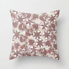 watercolor pomegranates Throw Pillow