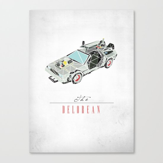 The Delorean Canvas Print