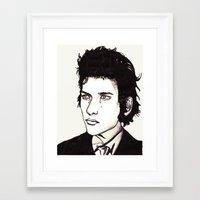 dylan Framed Art Prints featuring Dylan by Matt Ferguson