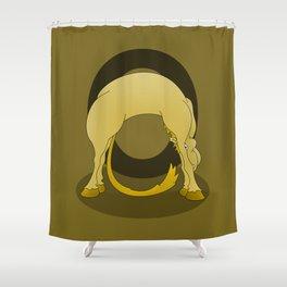 Pony Monogram Letter O Shower Curtain