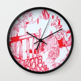 Red Lead Wall Clock