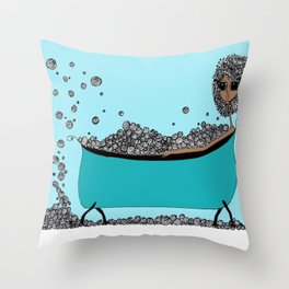 Earthling Bath Time Throw Pillow