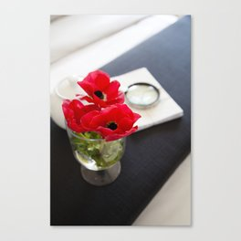 Flowers in Bed Canvas Print