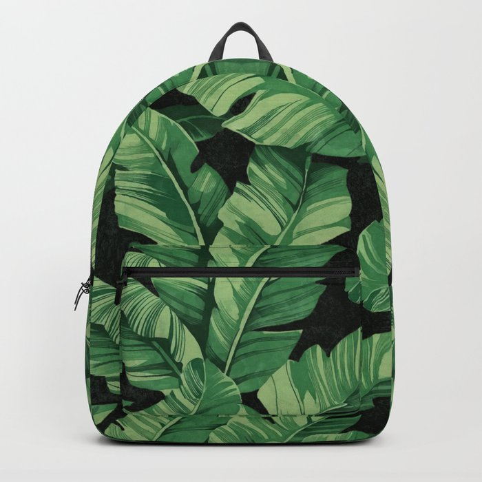 Tropical banana leaves II Backpack