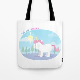 The sad unicorn Tote Bag