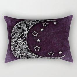 Purple Abstract Moon Rectangular Pillow