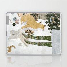 Christmas tree decorating Laptop & iPad Skin