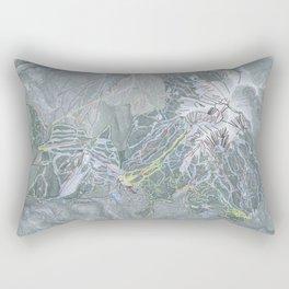 Big Sky Resort Trail Map Rectangular Pillow