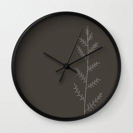 A Single Branch - Line Art Wall Clock