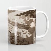 flag Mugs featuring Flag by Kees