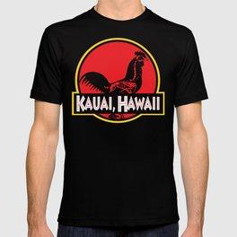 Kauai, Hawaii Jurassic Park Rooster T-shirt