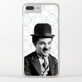 Charlie Chaplin Old Hollywood Clear iPhone Case