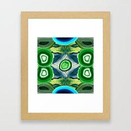 JCrafthouse Agate of Wonder in Royal Green Framed Art Print