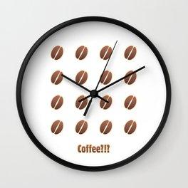 Tasty coffee seamless pattern Wall Clock