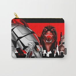 the mecha, the lizard and the ape in kaiju madness ecopop Carry-All Pouch