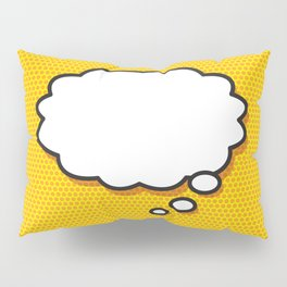 Comic Book THINK Pillow Sham