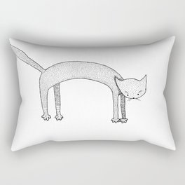Leaping Cat Rectangular Pillow