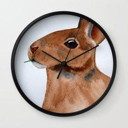 Hungry Rabbit Wall Clock