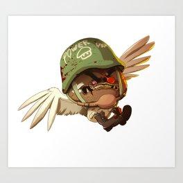 Mushroom Fury Art Print