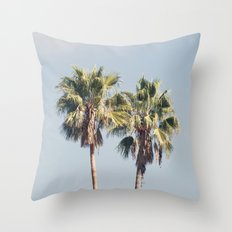 2 Palms Throw Pillow