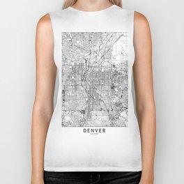 Denver White Map Biker Tank