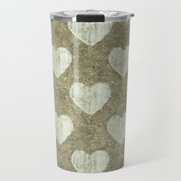 Hearts Motif Pattern Travel Mug