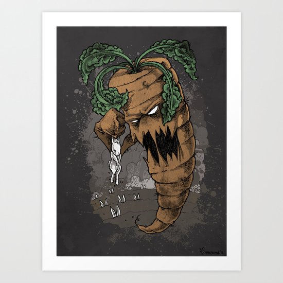 """Plucked"" A tale of misery and vengence Art Print"