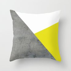Concrete vs Corn Yellow Throw Pillow