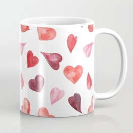 watercolor love pattern with hearts Coffee Mug