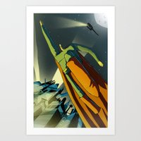 superman Art Prints featuring Superman by Peerro