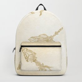 Tribal Arrows Gold on Paper Backpack