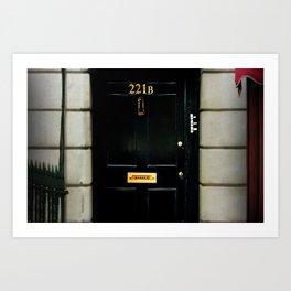 221B Baker Street BBC Sherlock Art Print
