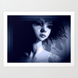 Blue Contrast Art Print