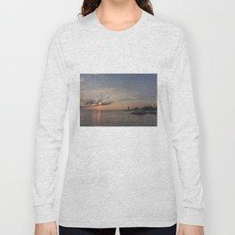 Sunbeams at Annisquam lighthouse Long Sleeve T-shirt