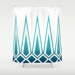 Mid Century Muse: Norms in Teal Shower Curtain
