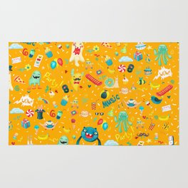 Party monsters (yellow) Rug
