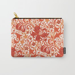 William Morris Iris and Lily, Mandarin Orange Carry-All Pouch