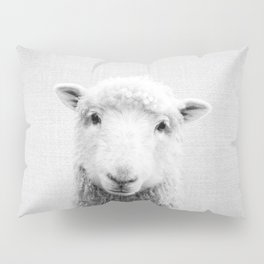 Sheep - Black & White Pillow Sham