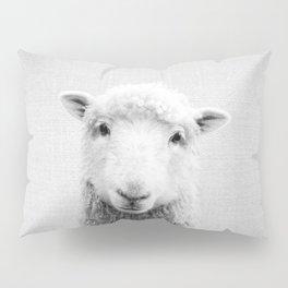 Sheep - Black & White Pillow Sham