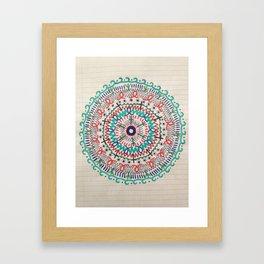 Pin Wheel Mandala Framed Art Print