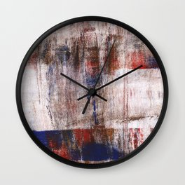 Multicolored abstract painting Wall Clock