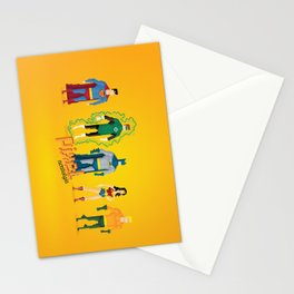 Justice League of America - Pixel Nostalgia Stationery Cards