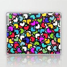 Rainbow LOVE Hearts Laptop & iPad Skin