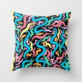 string theory (black) Throw Pillow