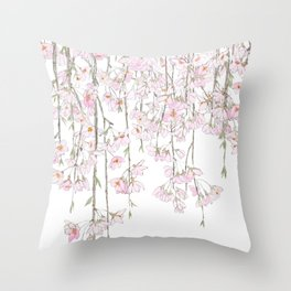 pink cherry blossom spring 2018 Throw Pillow