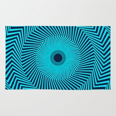 Circular Optical Illusion Rug
