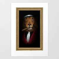 godfather Art Prints featuring the godfather by Natasha79