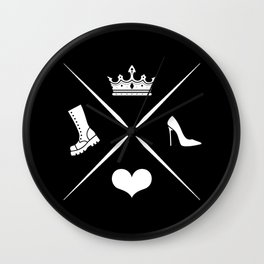Fierce & Feminine Wall Clock