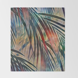 Tropical Sunset Throw Blanket