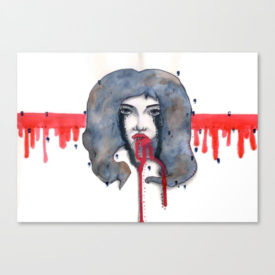 Go on let it Bleed  Canvas Print